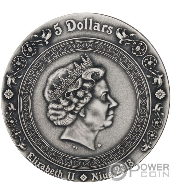 VICTORIA AND NIKE Strong and Beautiful Goddesses 2 Oz Silver Coin 5$ Niue 2018