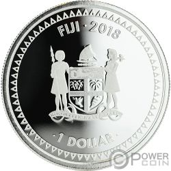MERMAID RISING Coloured 1 Oz Серебро Монета 1$ Фи́джи 2018