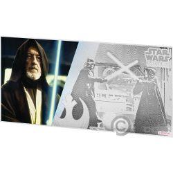 OBI WAN KENOBI Star Wars Neue Hoffnung Folie Silber Note 1$ Niue 2018