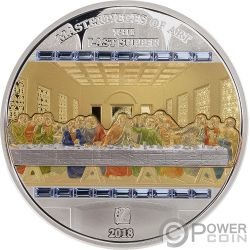 LAST SUPPER Masterpieces of Art 3 Oz Silver Coin 20$ 25$ Cook Islands 2018