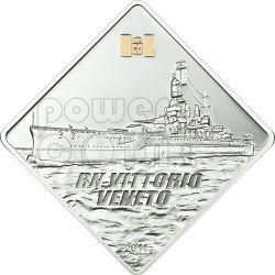 VITTORIO VENETO Regia Nave Ship 2 Oz Moneda Plata 10$ Palau 2011