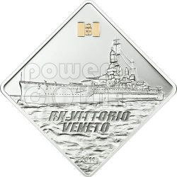 VITTORIO VENETO Regia Nave Ship 2 Oz Silber Münze 10$ Palau 2011