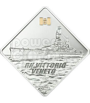 VITTORIO VENETO Regia Nave Ship 2 Oz Silver Coin 10$ Palau 2011