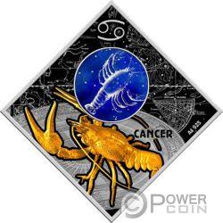 CANCER Zodiac Signs Серебро Монета 100 Денар Македония 2018