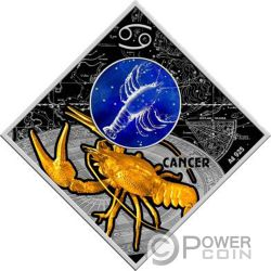 CANCER Krebs Zodiac Signs Silber Münze 100 Denars Macedonia 2018