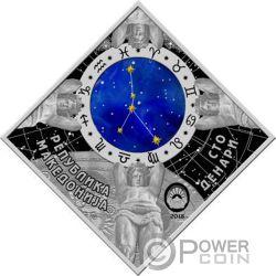 CANCER Zodiac Signs Silver Coin 100 Denars North Macedonia 2018