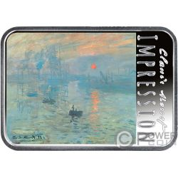 IMPRESSION SUNRISE Impressionism Evanescent Images and Sounds 1 Oz Silver Coin 1$ Niue 2018