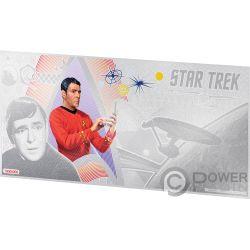SCOTTY Kommandant Star Trek Original Series Foil Silber Note 1$ Niue 2018