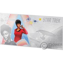 UHURA Lieutenant Star Trek Original Series Foil Серебро Note 1$ Ниуэ 2018
