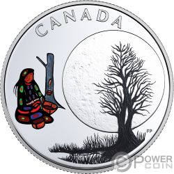 SUGAR MOON Teachings From Grandmother Silver Coin 3$ Canada 2018