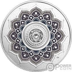 APRIL Birthstone Swarovski Crystal Silver Coin 5$ Canada 2018
