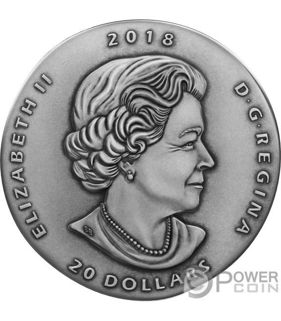 MARRELLA Ancient 1 Oz Moneta Argento 20$ Canada 2018