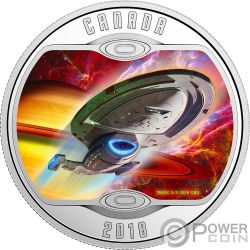 VOYAGER Star Trek Next Generation Silber Münze 10$ Canada 2018