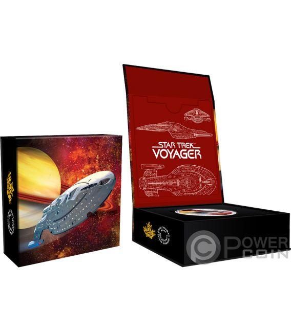 VOYAGER Star Trek Next Generation Moneda Plata 10$ Canada 2018