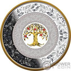 TREE OF LUCK Baum des Glücks Porzellan Porcelain Silber Münze 25$ Niue 2018