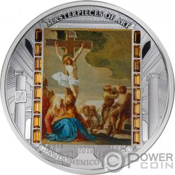 GIAMBATTISTA TIEPOLO CHRIST DEATH Muerte Cristo Masterpieces of Art 3 Oz Moneda Plata 20$ Cook Islands 2018