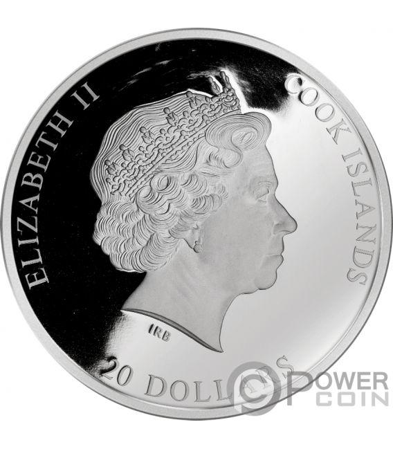 GIAMBATTISTA TIEPOLO CHRIST DEATH Masterpieces of Art 3 Oz Silver Coin 20$ Cook Islands 2018