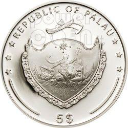 BATTAGLIA BUSSACO 200 Anniversario Moneta Argento 5$ Palau 2010