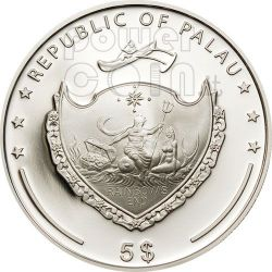BATTLE OF BUSSACO 200th Anniversary Moneda Plata 5$ Palau 2010