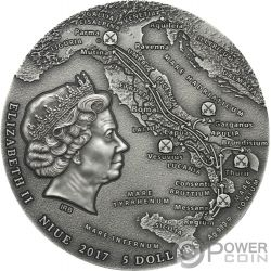 SPARTACUS Slave Revolt Great Commanders 2 Oz Silver Coin 5$ Niue 2017
