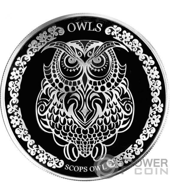 SCOPS OWL Autillo 1 Oz Moneda Plata 5$ Tokelau 2018