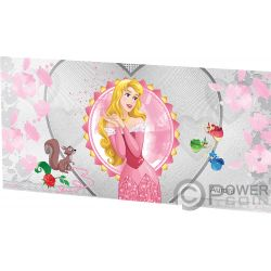 AURORA Sleeping Beauty Disney Princess Foil Silver Note 1$ Niue 2018