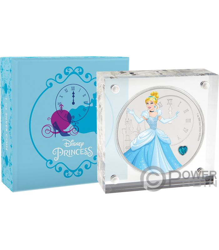 Cinderella Disney Princess Gemstone 1 Oz Silver Coin 2