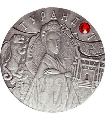 TURANDOT Principessa Favola Moneta Argento Zircone Bielorussia 2008