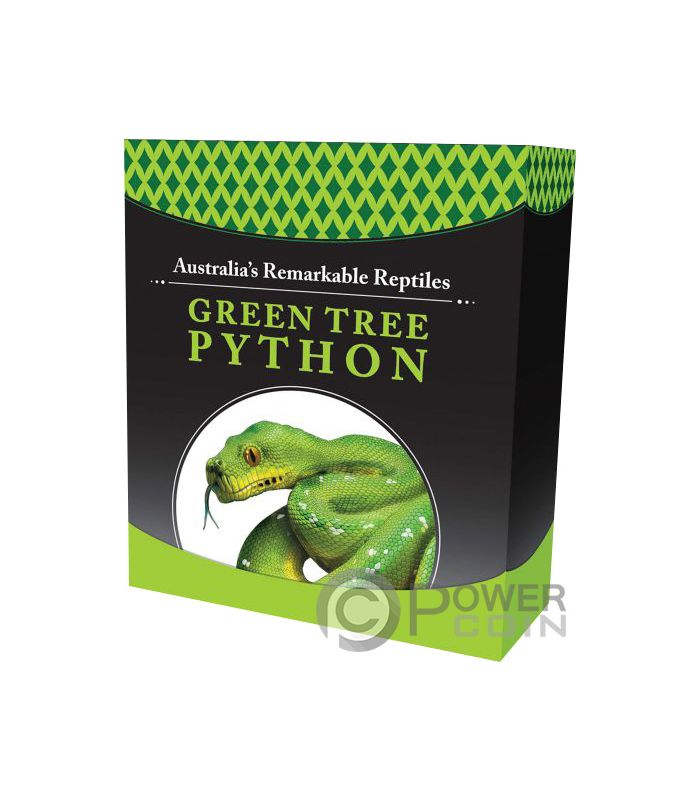Green Tree Python Remarkable Reptiles 1 Oz Silver Coin 1
