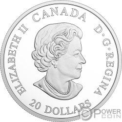 VIKING VOYAGE Viaje Vikingo Norse Figureheads 1 Oz Moneda Plata 20$ Canada 2018