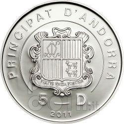 BEATIFICATION JOHN PAUL II Серебро Монета Hologram 5D Андора 2011