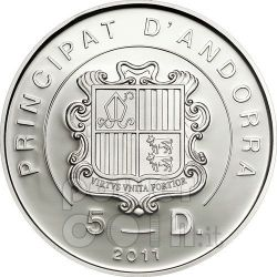 BEATIFICAZIONE GIOVANNI PAOLO II Moneta Argento Ologramma 5D Andorra 2011