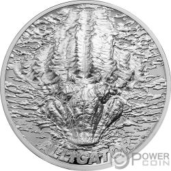 ALLIGATOR Bitemarks 1 Oz Silver Coin 5$ Palau 2018