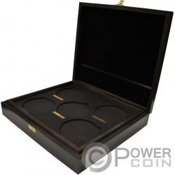 WOODEN CASE Box Queen Beasts Series 10 Oz Display Серебро Монеты Holder