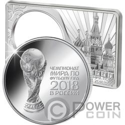 FIFA WORLD CUP Coppa del Mondo 1 Oz Moneta Argento 2 Oz Set Russia 2018