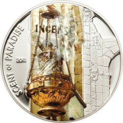 INCENSE Scent Of Paradise Smelling Moneda Plata 5$ Palau 2011