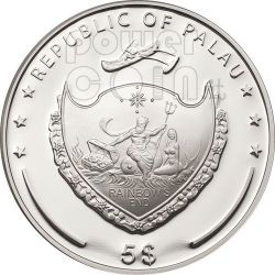 INCENSE Scent Of Paradise Smelling Silver Coin 5$ Palau 2011