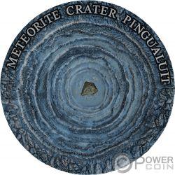 PINGUALUIT Meteorito Meteorite Crater 1 Oz Moneda Plata 1$ Niue 2018