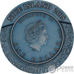 PINGUALUIT Meteorite Crater 1 Oz Серебро Монета 1$ Ниуэ 2018
