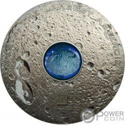 VESTA THE LARGEST ASTEROID Hed Meteorites 3 Oz Серебро Монета 20$ Острова Кука 2018