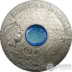 VESTA THE LARGEST ASTEROID Gran Asteroide Hed Meteorites 3 Oz Moneda Plata 20$ Cook Islands 2018