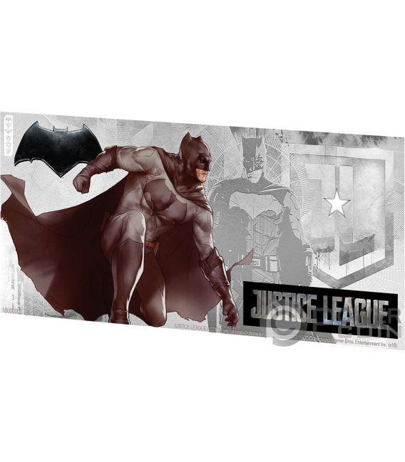 BATMAN Justice League Foil Silver Note 1$ Niue 2018