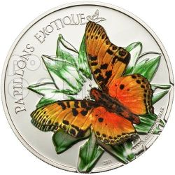 BUTTERFLY 3D Moneda Plata 1000 Francs Cameroon 2011