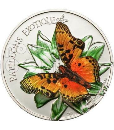 BUTTERFLY 3D Silver Coin 1000 Francs Cameroon 2011