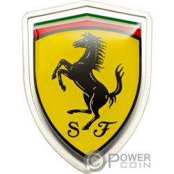 FERRARI Italian Sports Car Серебро Монета 5$ Острова Кука 2013