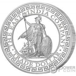 BRITISH Trade Dollar 1 Oz Silver Coin 2$ Niue 2018