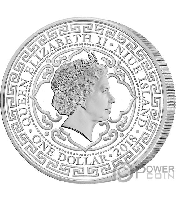 British Trade Dollar 1 Oz Silver Coin 2 Niue 2018 Power