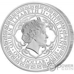 BRITISH Trade Dollar 1 Oz Silver Coin 2$ Niue 2018