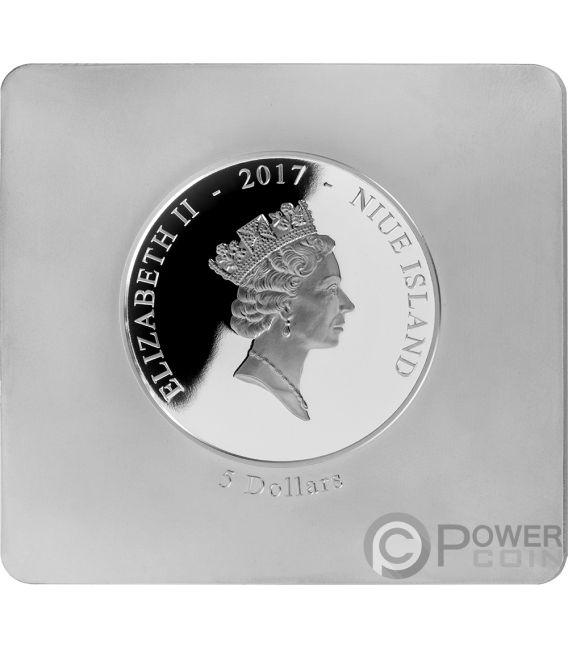 WATER LILY POND Monet Precious Art 2 Oz Silver Coin 5$ Niue 2017