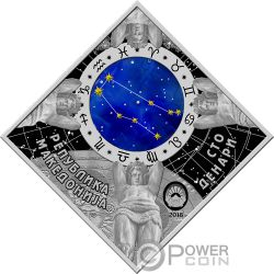 GEMINI Zodiac Signs Silver Coin 100 Denars Macedonia 2018